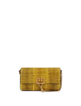 Charm Snakeskin Crossbody Bag by Givenchy