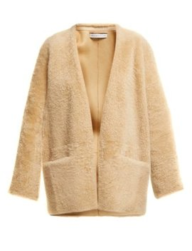 Egypte Collarless Shearling Coat by Inès & Maréchal