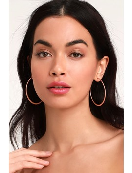 Alter Ego Rose Gold Hoop Earrings by Lulus