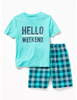 Graphic Sleep Set For Boys by Old Navy