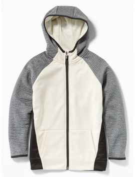 Go Dry Color Blocked Zip Hoodie For Boys by Old Navy
