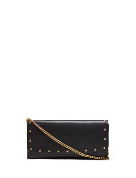 Studded Italian Leather Clutch by Banana Repbulic