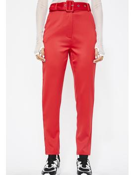 Cherry Runnin' It Belted Pants by Moon Collection