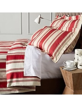Canon Cotton Red Stripe Duvet Cover by Cottage Home