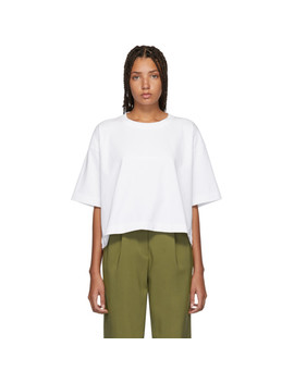 White Embossed Logo Cylea T Shirt by Acne Studios