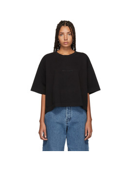 Black Embossed Logo Cylea T Shirt by Acne Studios