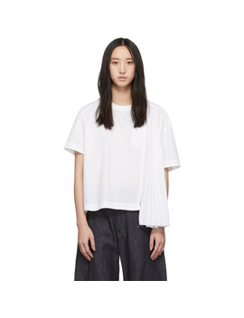 White Shirting Blouse by Sacai