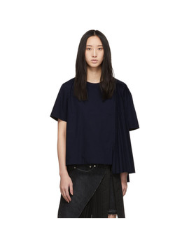 Navy Shirting Blouse by Sacai