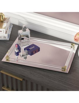 Rectangle Mirrored Accent Tray by Willa Arlo Interiors