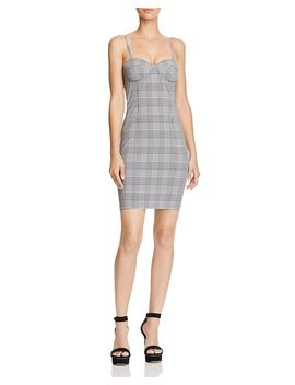 Plaid Bustier Mini Dress   100 Percents Exclusive by Olivaceous
