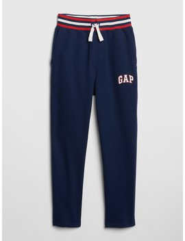 Logo Pull On Slim Pants In Fleece by Gap