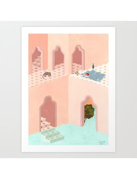 A Strange Place For A Picnic Art Print by