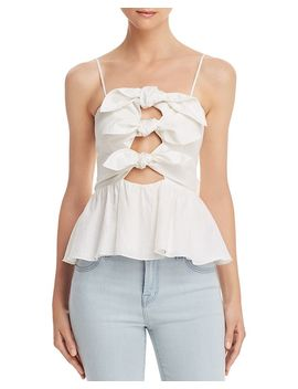 Tie Front Bow Camisole Top by Rebecca Taylor