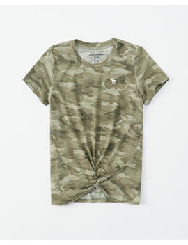 Cozy Twist Front Icon Tee by Abercrombie & Fitch