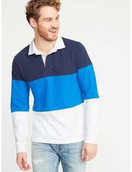 Color Blocked Jersey Rugby For Men by Old Navy