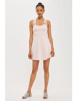**Strappy Airtex Skater Dress by Topshop