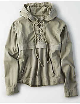 Ae Lace Up Popover Jacket by American Eagle Outfitters