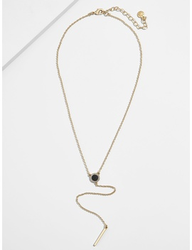 madeline-druzy-y-chain-necklace by baublebar