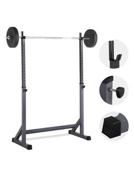 44.5 72'' Adjustable Squat Rack Dipping Station Barbell Rack Dip Stand Fitness Home&Gym by Yaheetech