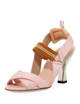 Colibri Crisscross Sandals by Fendi