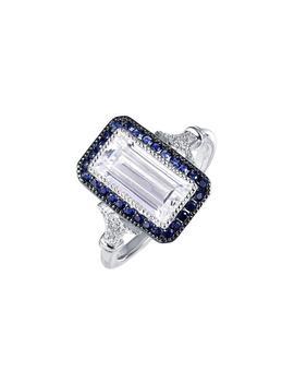 Art Deco Simulated Diamond Ring by Lafonn
