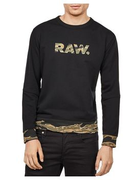 Tahire Stalt Dc Camouflauge Trim Sweatshirt by G Star Raw