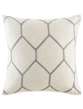 Madison Park Brooklyn Metallic Square Throw Pillows (Set Of 2) by Bed Bath And Beyond
