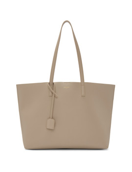 Taupe East/West Tote by Saint Laurent