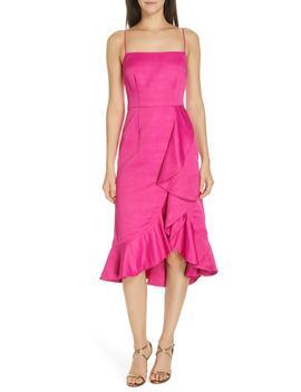 Ashley Linen Blend Midi Dress by Amur