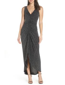 Ruched Glitter Knit Gown by Vince Camuto