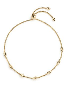 14 K Yellow Gold Beaded Wheat Chain Bracelet    100 Percents Exclusive by Bloomingdale's