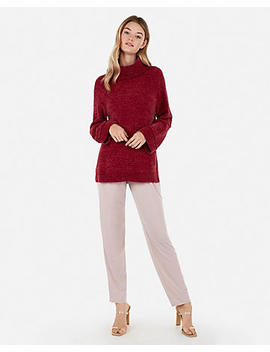 Velvet Chenille Cowl Neck Tunic Sweater by Express