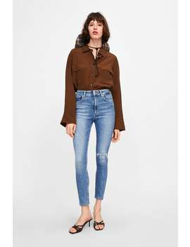 Zw Premium 80 S High Waist Venice Blue Jeans  New Inwoman by Zara