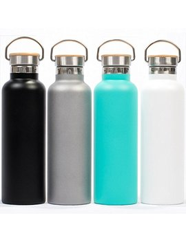 Gypsy Color Pure Flask Insulated Water Bottle For Sport Hydration 750ml (25oz) And 500ml (17oz) Stainless Steel Water Bottle Bpa Free, Durable Paint With Wide Mouth Swivel Handle And Bamboo On Top by Gypsy Color