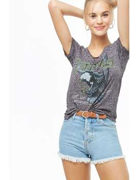 Crisscross Freebird Graphic Burnout Tee by Forever 21