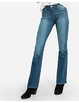 Mid Rise Medium Wash Stretch Bootcut Jeans by Express