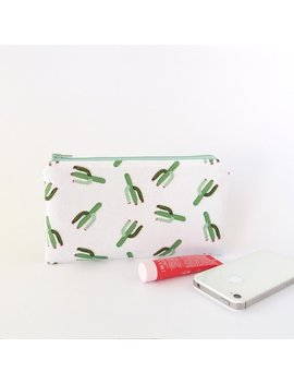 Cactus Zipper Pouch, Pencil Case, Small Pouch, Small Purse, Women, Cactus Wallet, School Supplies Bag, Best Friend Gift, Desert, Succulents by Etsy