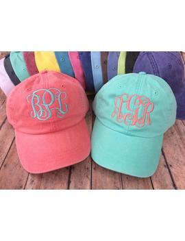 Monogram Hat,  Monogram Baseball Hat, Womens Hat, Monogrammed Hat, Monogrammed Cap, Womens Baseball Cap, Bridesmaids Hats, Bridesmaid Gift by Etsy