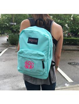 Jansport Backpack With Custom Embroidered Monogram by Etsy