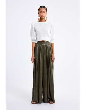 Cropped Knit Top  New Inwoman by Zara