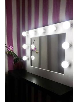 Vanity Mirror   Hollywood Mirror   Makeup Mirror With Lights   Wall Hanging   Bulbs Not Included   Handmade To Order by Etsy