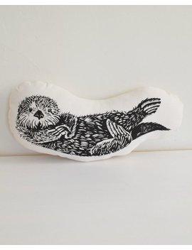 Otter Plush   Otter Pillow   Organic Cotton   Animal Accent Pillow   Sea Otter Throw Pillow   Animal Pillows   Plushie   Usa Made Home Decor by Etsy