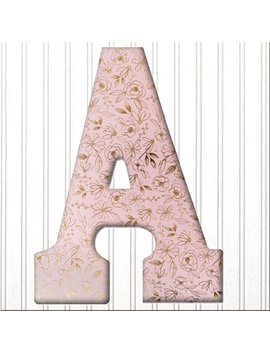 """9"""" Pink Letter With Rose Gold Foil Roses,Wood Letter,Hanging Letter,Decorated Letter,Nursery Decor Letter Wall Art,Dorm Decor,Wall Initial by Etsy"""