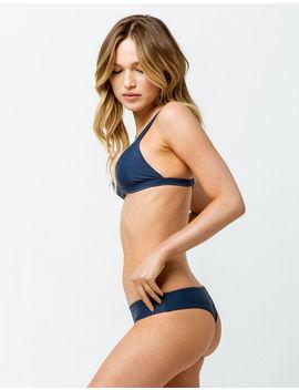 Full Tilt Cheeky Navy Fade Bikini Bottoms by Full Tilt