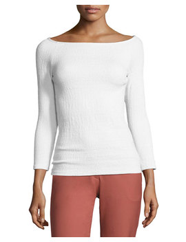 Ennalyn B Smocked Off The Shoulder Top, White by Theory