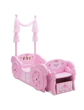 Disney Princess Plastic Carriage Convertible Toddler To Twin Bed By Delta Children by Disney