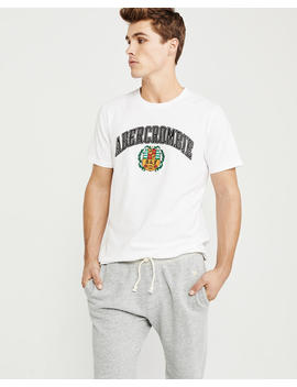 Elevated Logo Tee by Abercrombie & Fitch