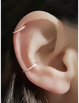 Ear Cuff, Ear Cuffs No Piercing, Silver Ear Cuff, Ear Wrap, Rose Gold Ear Cuff, Fake Piercing, Dainty Earrings, Simple Ear Cuff, Single Hoop by Etsy