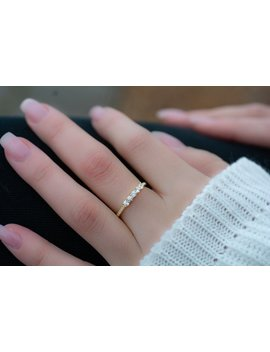 Dainty Cz Stacking Ring, Gold Minimalist Ring, Cz Ring, Simple Diamond Ring, Sterling Silver Ring, Thin Ring, Gift For Her, Delicate Ring by Etsy