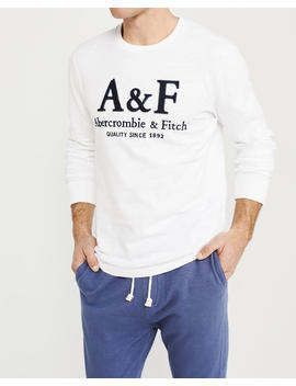 long-sleeve-heavyweight-logo-crewneck-tee by abercrombie-&-fitch